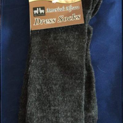 black alpaca dress sock