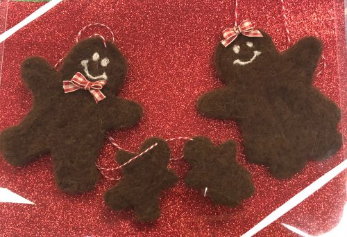 Alpaca Gingerbread Family Ornaments