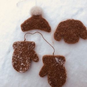 alpaca winter accessories ornaments