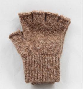 fingerless fawn alpaca gloves