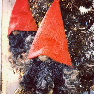 Gnome Sheep Wool Ornament